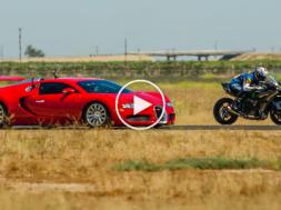 drag race bugatti veyron vs kawasaki ninja h2r sportvideos tv. Black Bedroom Furniture Sets. Home Design Ideas