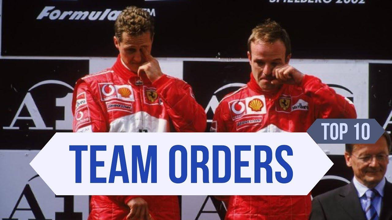 Top 10 F1 Team Order Tragedies