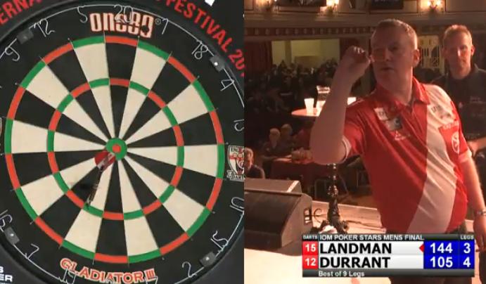 Glen Durrant Celebrating Missed 105 Checkout In Final