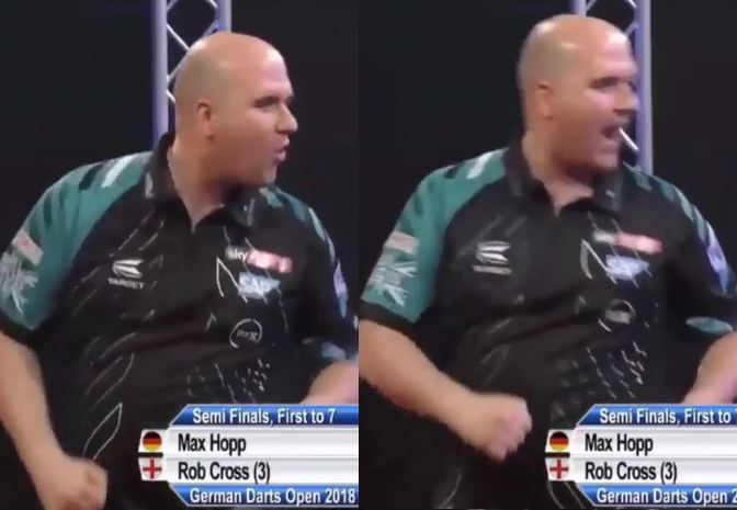 German Darts Open Crowd Being Disrespectful With Rob Cross