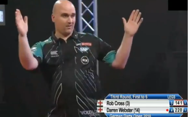 Rob Cross Almost Ended Game With 9 Darter At German Darts Open 2018