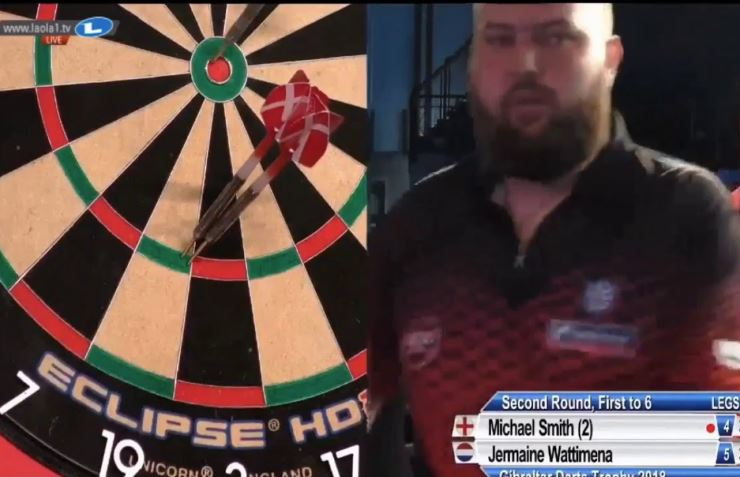 Michael Smith's Amazing Perfect Darts At Gibraltar Darts Trophy