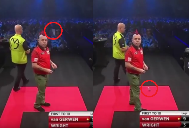 What Fell Down At The Auckland Darts Masters Stage?