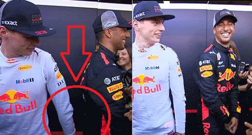 Max Verstappen Grabs His Teammate's Ass During Interview