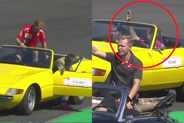 Sebastian Vettel Took Over Steeringwheel At Drivers Parade
