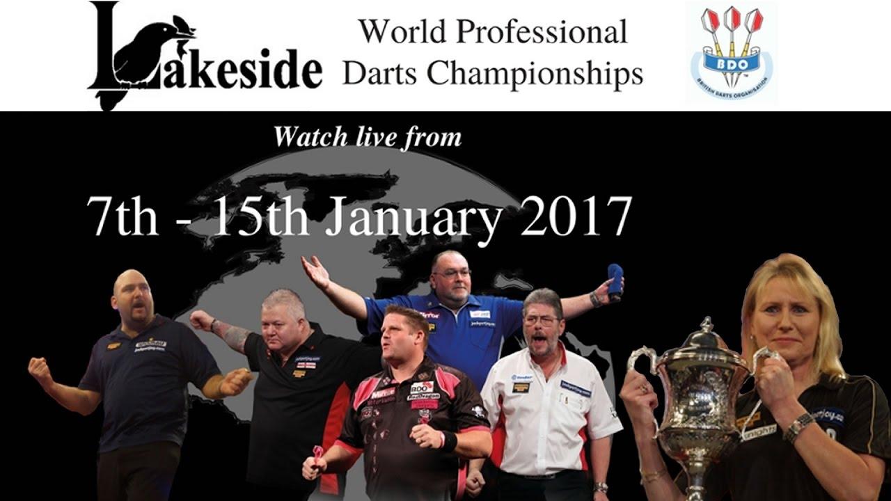 Lakeside World Darts Championship 2017  – Saturday January 14 Session 2