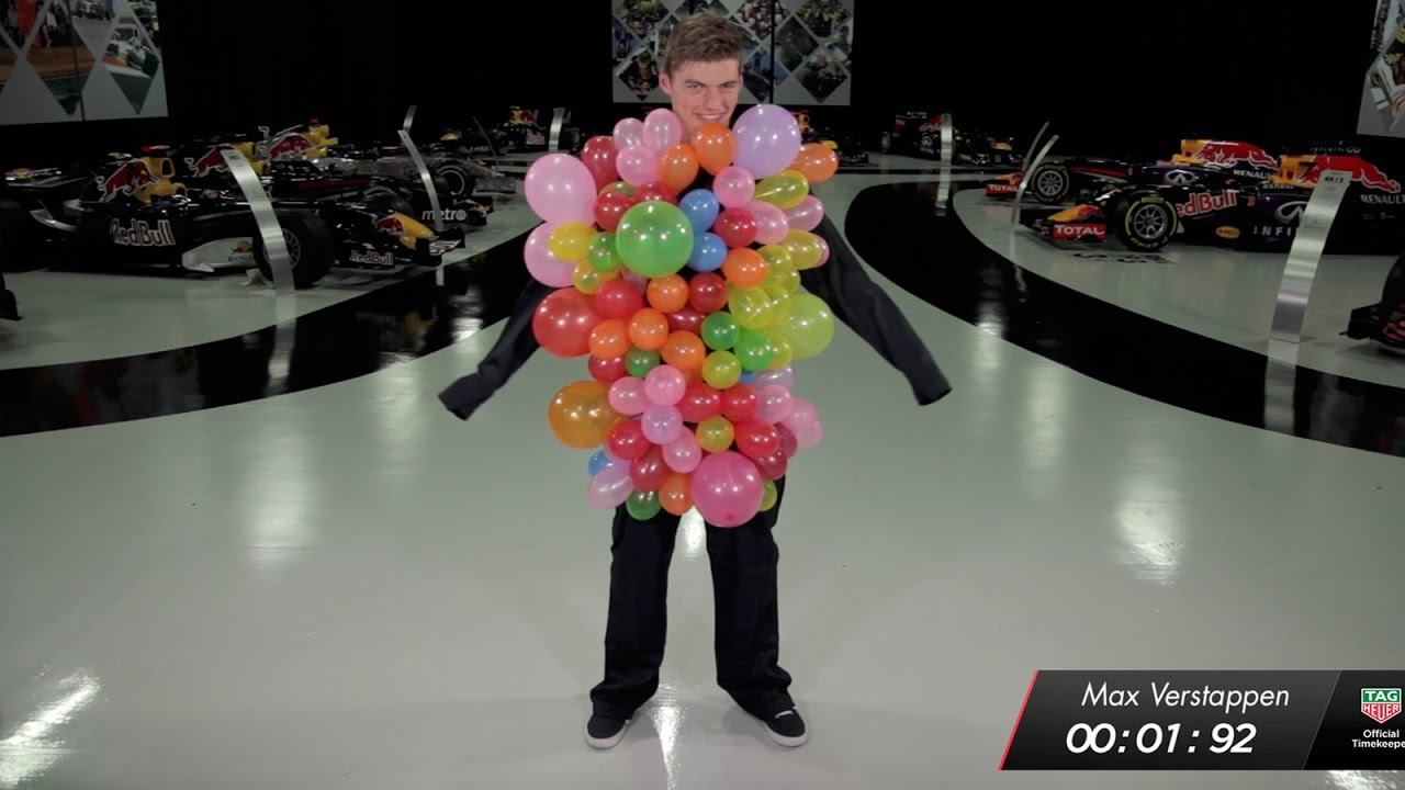 The Red Bull Racing 1.92 Second Challenge: Balloons! – Max Verstappen