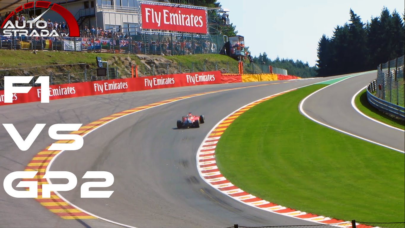 F1 vs GP2 vs GP3 vs Porsche Supercup – Eau Rouge Raidillon Comparison