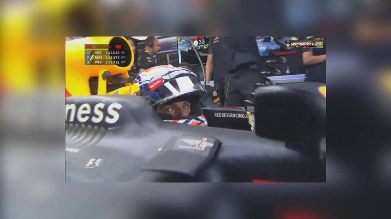 F1 2016 Singapore Max Verstappen Sees a Lizard on the Circuit FP3!