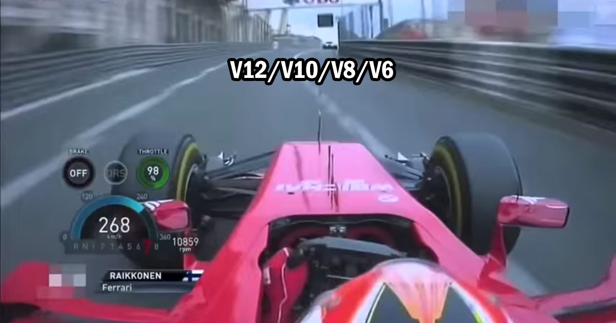 F1 Engine Sound Evolution: Ferrari – V12/V10/V8/V6
