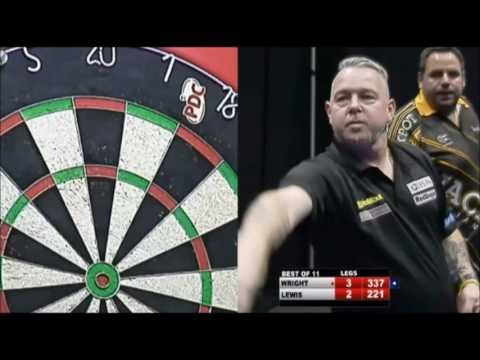 Peter Wright vs Adrian Lewis – 2016 Players Championship #20