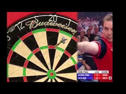 9 Dart Finish – Phil Taylor against Roland Scholten – UK Open – 12 June 2005