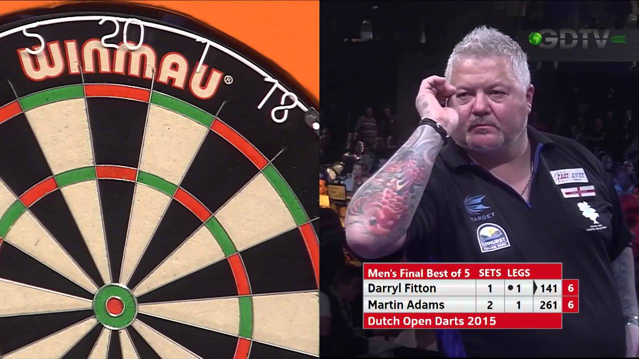 9 Dart Finish – Darryl Fitton against Martin Adams – Dutch Open Darts – 1 February 2015