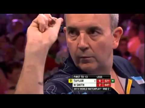9 Dart Finish – Phil Taylor against Michael Smith – World Matchplay  – 23 July 2014