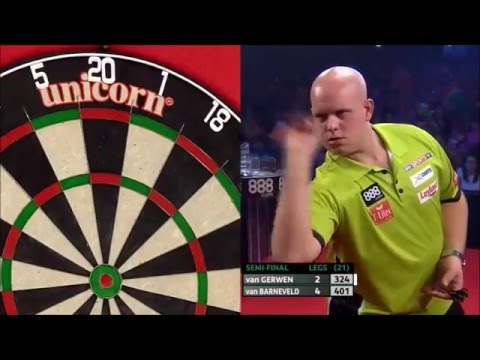 9 Dart Finish – Michael van Gerwen vs Raymond van Barneveld – European Championship – 26.10.2014