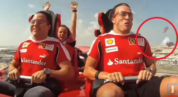 Fernando Alonso Loses His Wallet At World S Fastest Rollercoaster At Ferrari World Sportvideos Tv