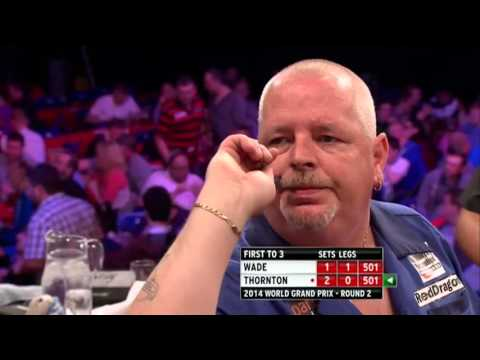 Two 9 Dart Finishes – James Wade against Robert Thornton – World Grand Prix  – 8 October 2014