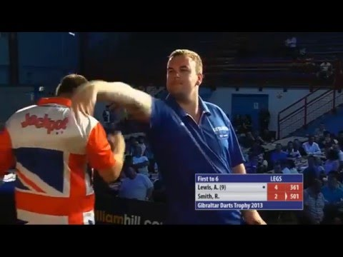 9 Dart Finish – Ross Smith against Adrian Lewis – Gibraltar Darts Trophy  – 30 June 2013