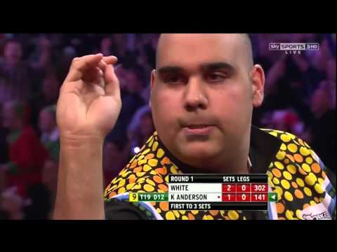 9 Dart Finish – Kyle Anderson against Ian White – PDC World Championship – 14 December 2013