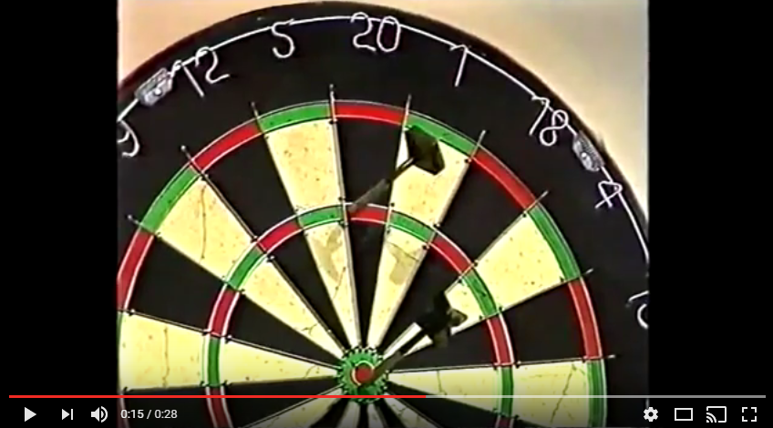 Tony Payne EXCELLENT 135 Checkout to Win – 1987 BDO World Pairs