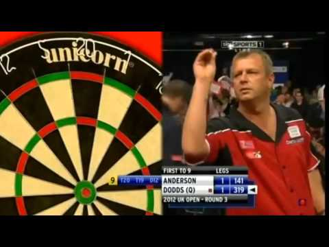 9 Dart Finish – Gary Anderson against Davey Dods – UK Open – 8 June 2012