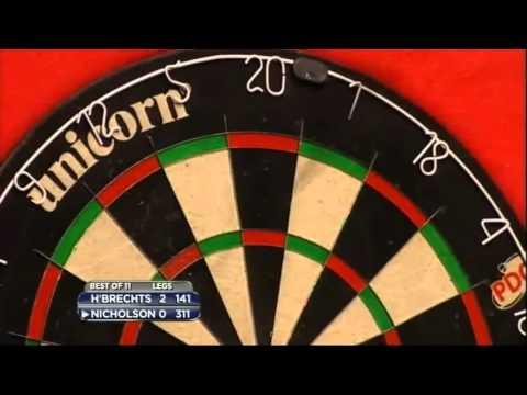 9 Dart Finish – Kim Huybrechts vs Paul Nicholson – 2013 Championship League Darts