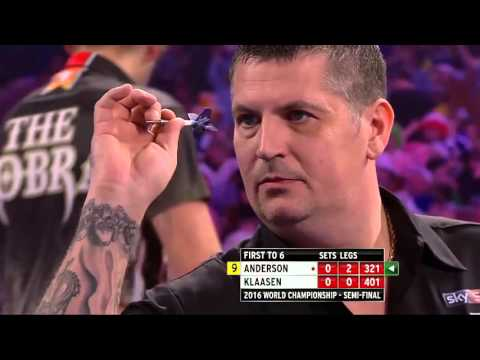9 Dart Finish – Gary Anderson against Jelle Klaasen – World Championship – 2 January 2016