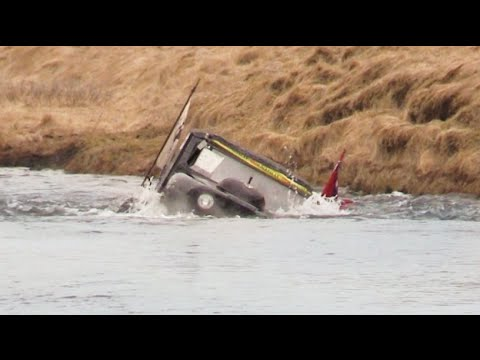 Hydroplaning a Formula Offroad Jeep goes wrong in Iceland!