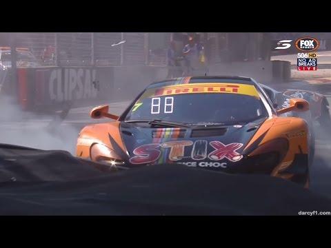 Quinn Crashes Race 1   Aussie GT – Adelaide 2017