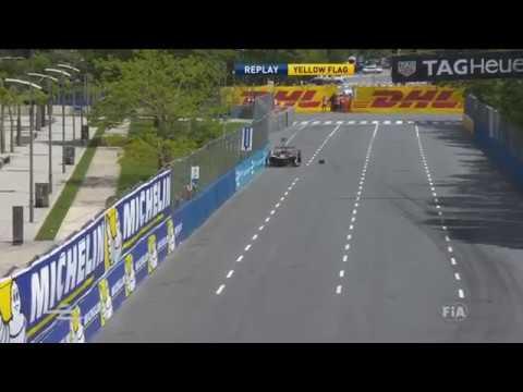 FIA Formula E Championship 2017. Q4 Buenos Aires ePrix. Daniel Abt &  Ma Qing Hua Crashes
