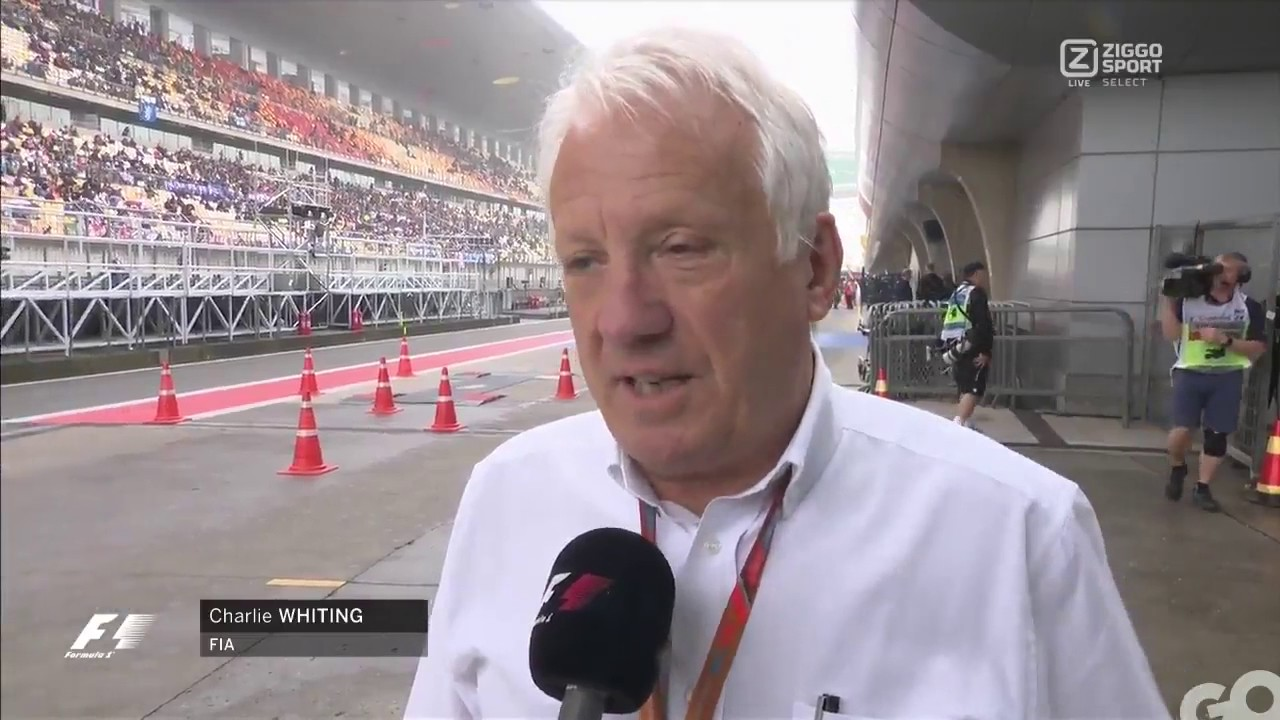 Charlie Whiting Twitter: F1 2017 Chinese Charlie Whiting Explain Why Not Driving