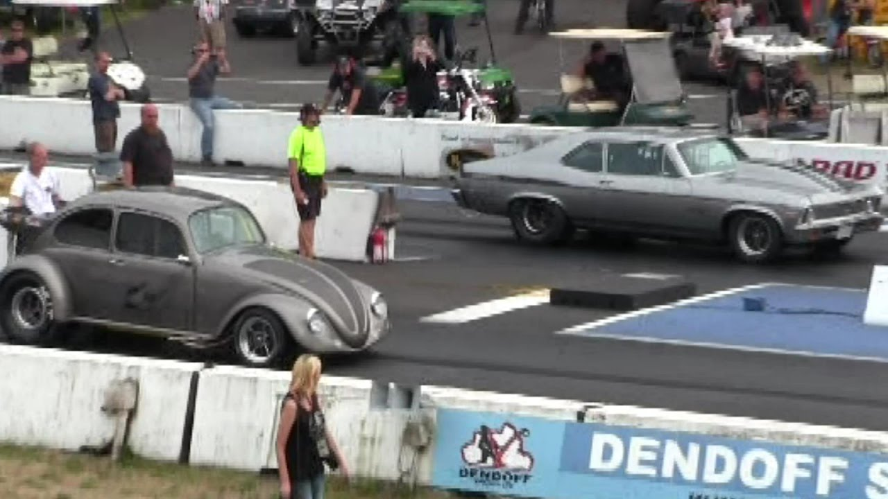 1000 hp muscle car vs crazy vw beetle-can vw beat 1000hp muscle car