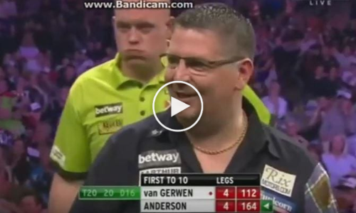 Gary Anderson Miscounting 164-Finish in Premier League 2017 Semi Final