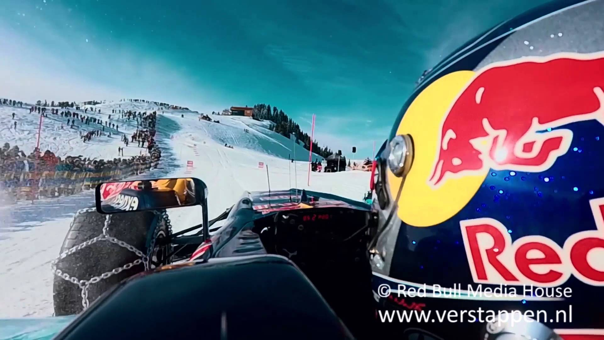 Max Verstappen vs. Aksel Lund Svindal on top of Hahnenkamm mountain, Kitzbühel, 14/01/2016