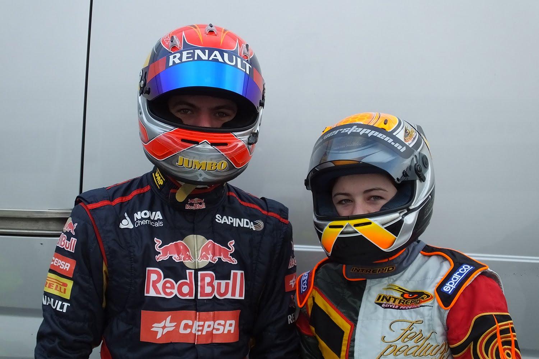 Max & Victoria Verstappen, Intrepid Rotax Max Test, Genk, 14/12/2014