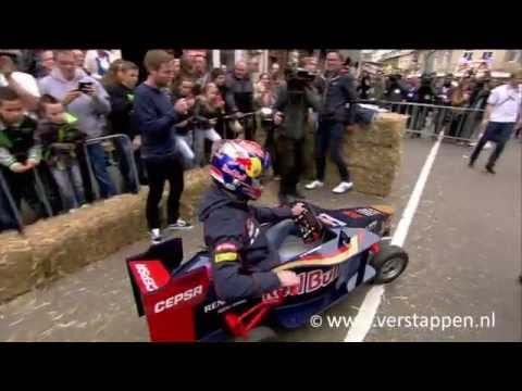 Max Verstappen races down the Cauberg in Valkenburg – Red Bull Soapbox Race, 16/05/2015