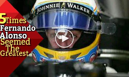 5 Times Fernando Alonso Seemed The Greatest!