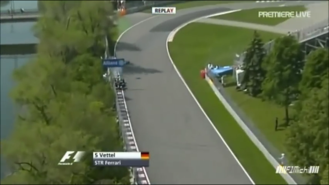 F1 Canada crash compilation