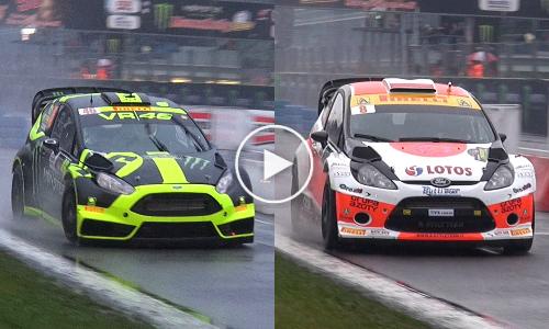 Valentino Rossi vs Robert Kubica [Monza Rally Master Show 2014]