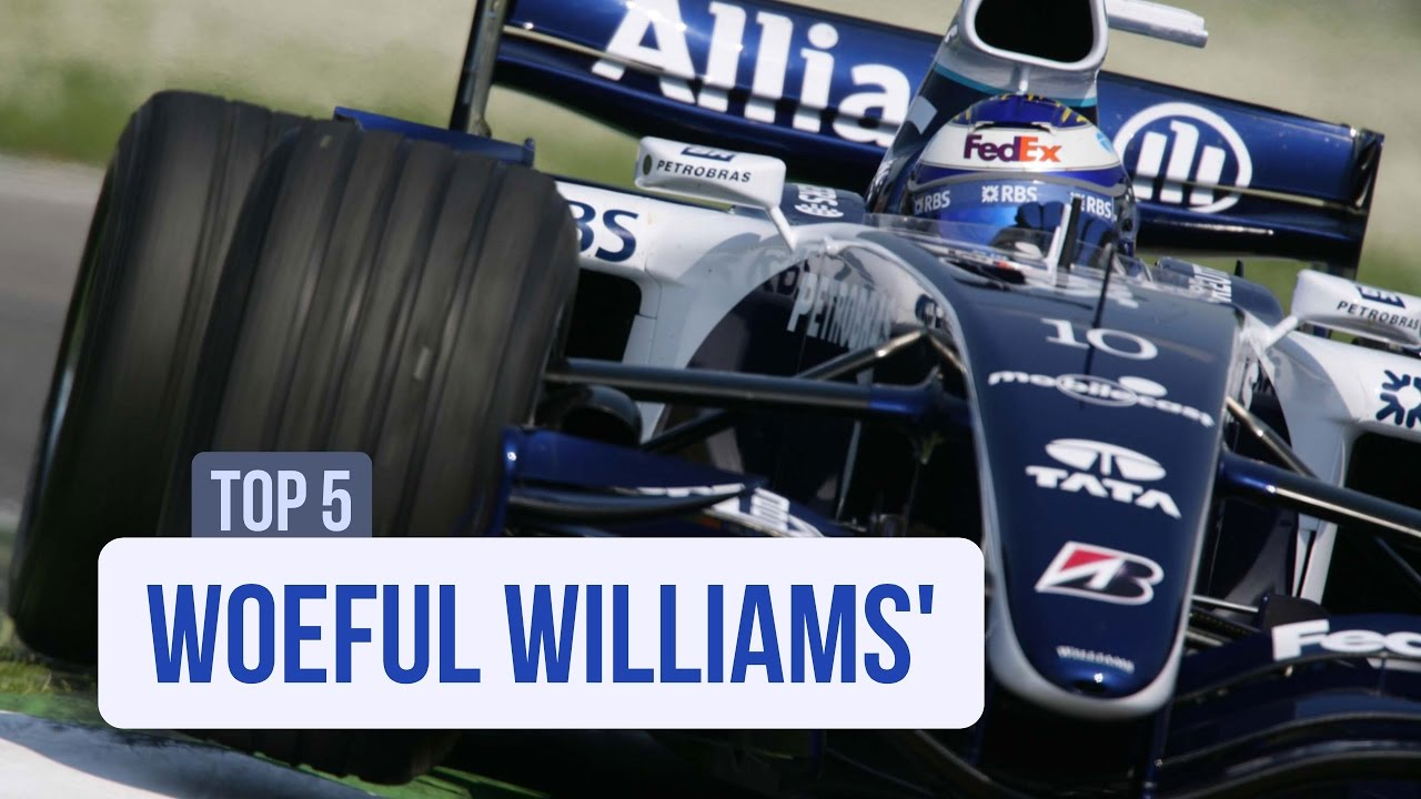 F1's Top 5 Woeful Williams'