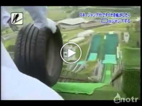 Only in Japan – Tyre Ski Jump