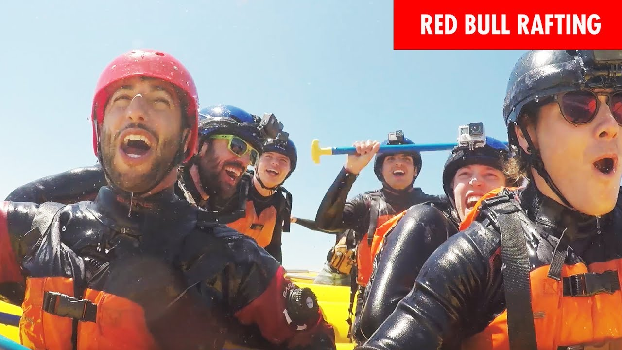 Daniel Ricciardo and Max Verstappen make a splash, rafting ahead of the Canadian Grand Prix