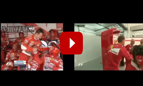 Comparison: Schumacher and Vettel After Engine Failures