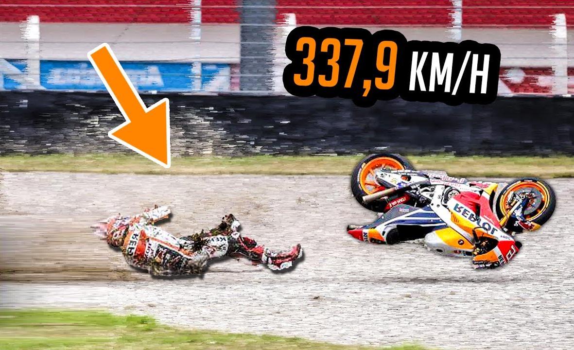Fastest Ever MotoGP Crash | Marc Marquez 337.9 km/h