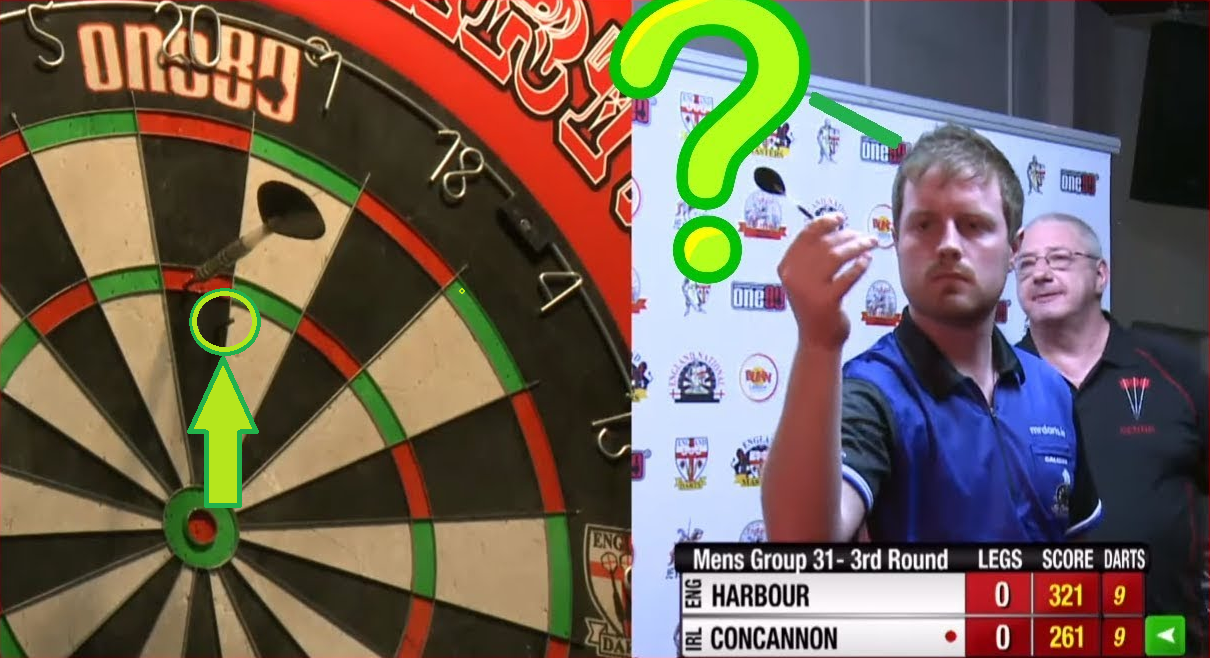 Funny Moment As David Concannon Lost His Dart Point