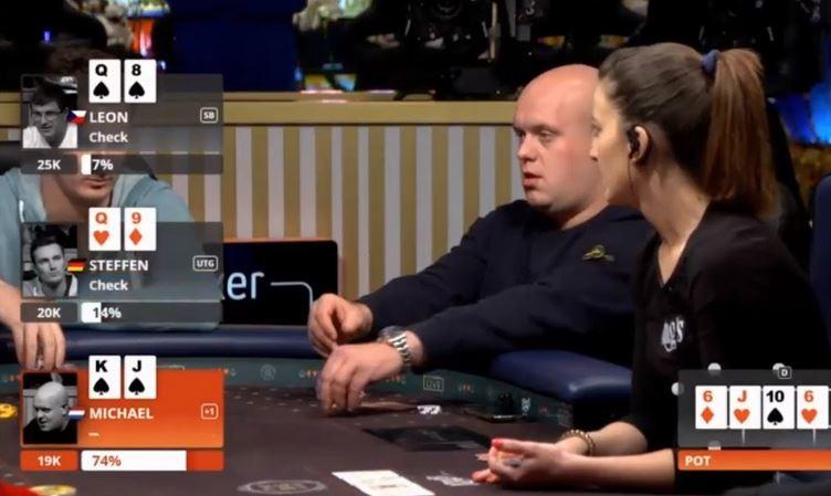 Michael van Gerwen Wins A Hand of Professional Poker