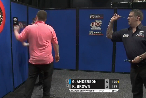 Gary Anderson Close To 9 Darter And Ending With 170 Checkout