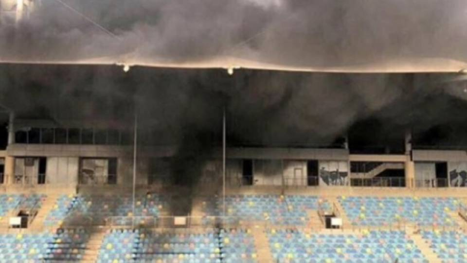 Grandstand Caught On Fire At Bahrain Circuit