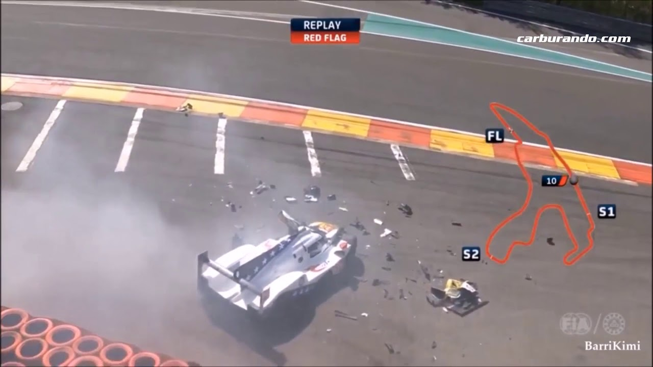 Fittipaldi Has Broken Both Legs In This 6 Hours Of Spa Crash [04-05-2018]