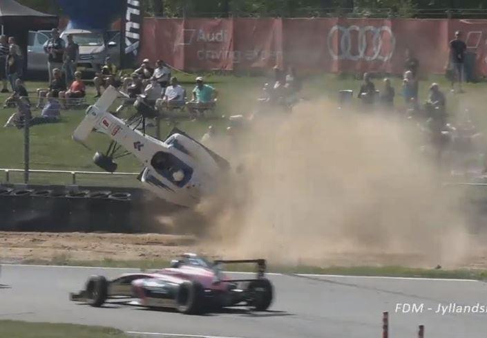 Big Crash Roll In Formula 4 In Denmark Last Weekend